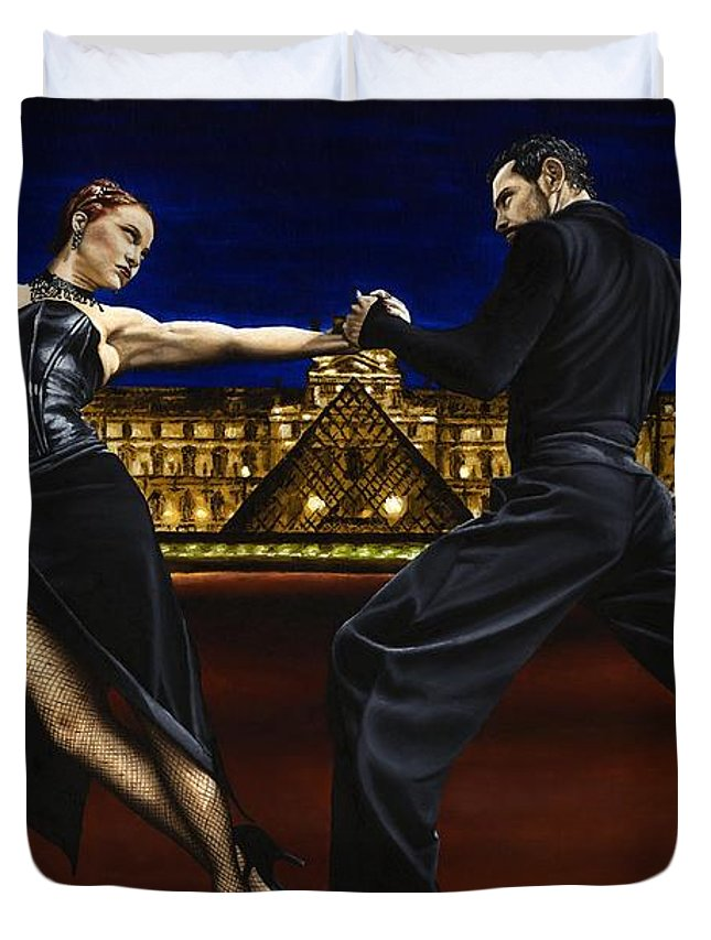 Tango Duvet Cover featuring the painting Last Tango In Paris by Richard Young