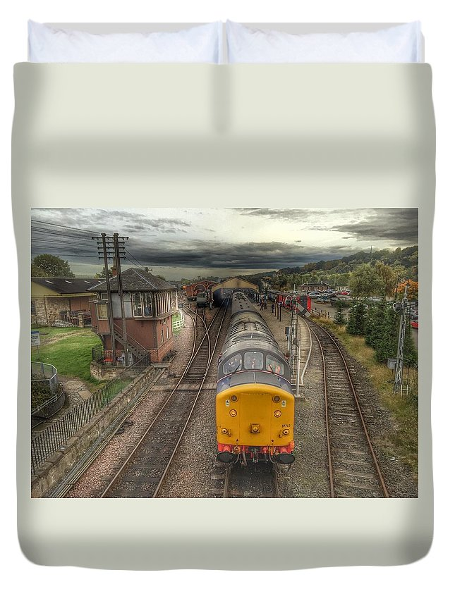 Train Duvet Cover featuring the photograph Last Train To Manuel by RKAB Works