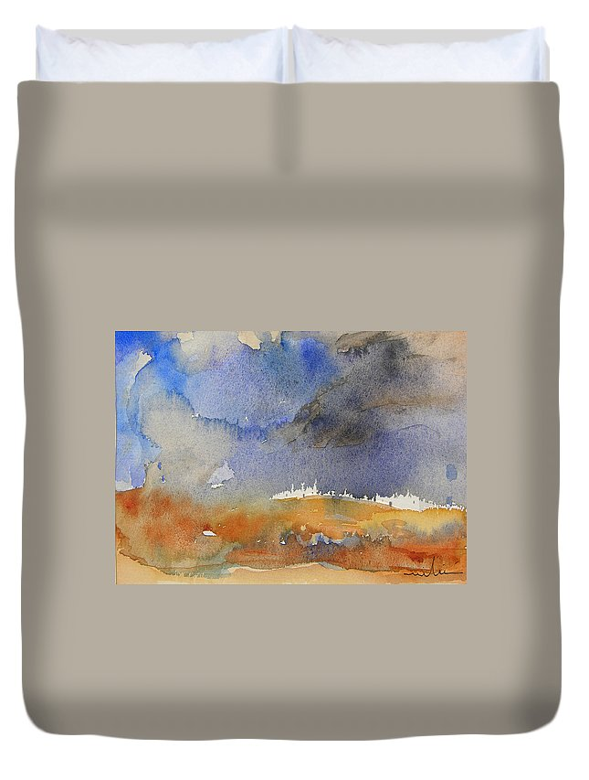 Watercolour Duvet Cover featuring the painting Late Afternoon 10 by Miki De Goodaboom