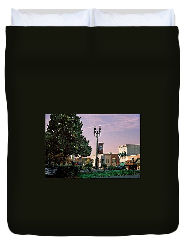 Landscape Duvet Cover featuring the photograph Late Sunday Afternoon by Steve Karol