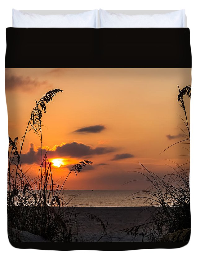 Sunrise Duvet Cover featuring the photograph Late Sunrise 3 by Zina Stromberg
