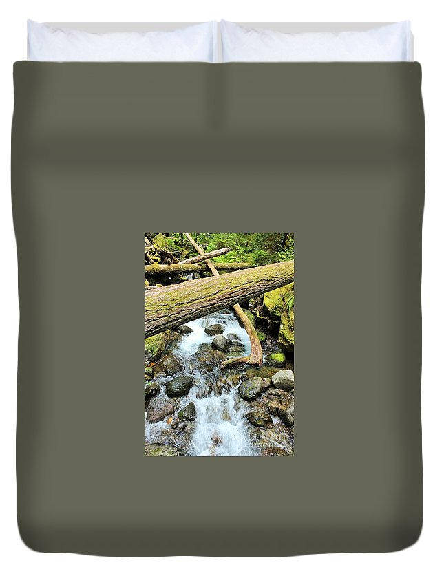 Laughingwater Creek Duvet Cover featuring the photograph Laughingwater Creek by LKB Art and Photography
