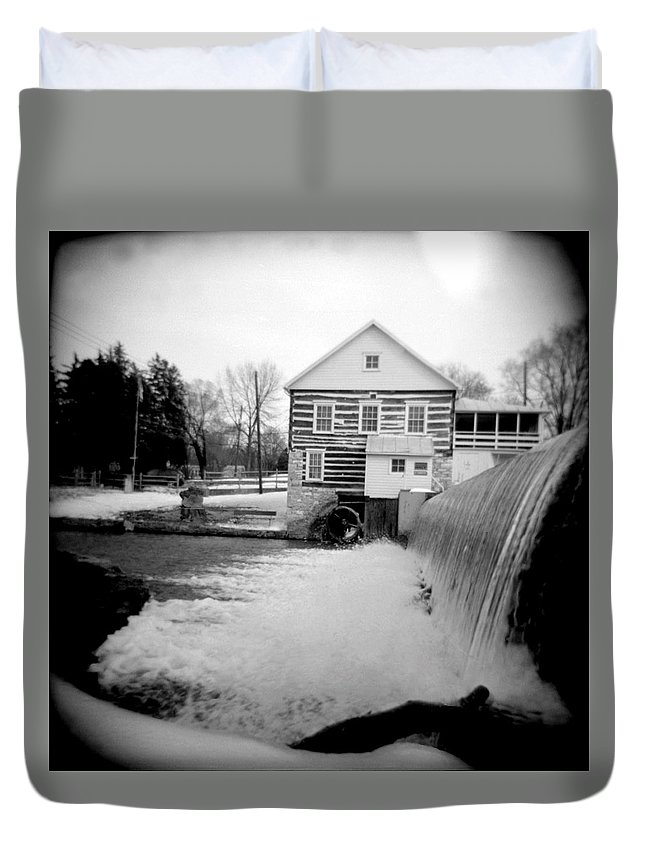Photograph Duvet Cover featuring the photograph Laughlin Mill by Jean Macaluso
