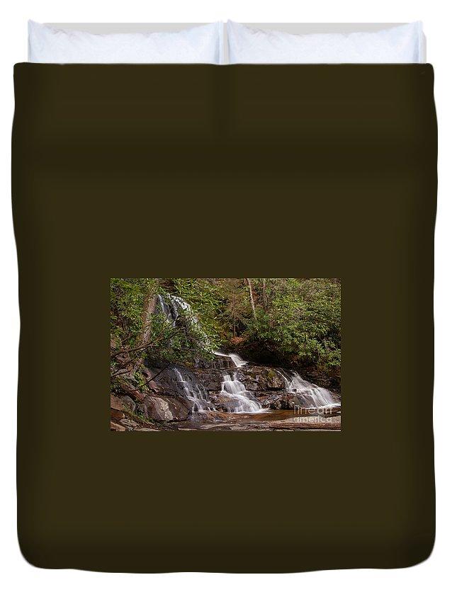 Laurel Fallsl Duvet Cover featuring the photograph Laurel Falls Six by Bob Phillips