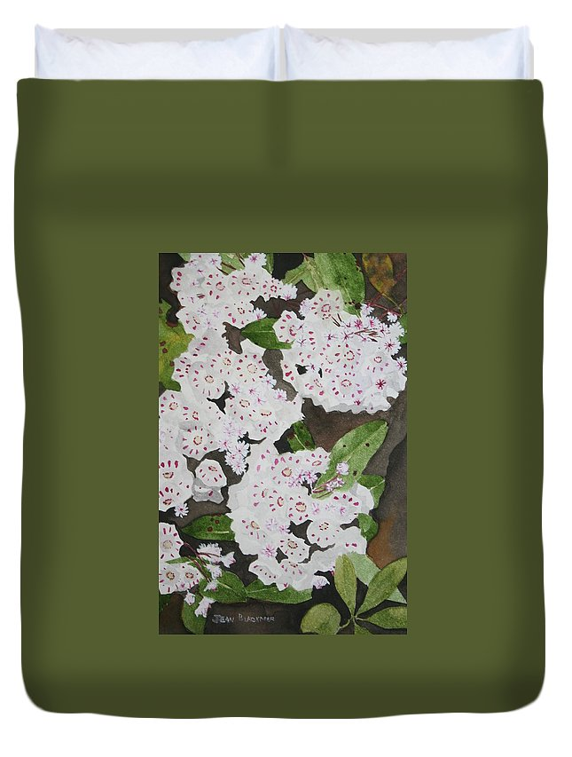 Mountain Laurel Duvet Cover featuring the painting Laurel on the Mountain by Jean Blackmer
