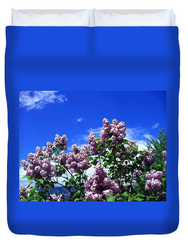 Lilacs Duvet Cover featuring the photograph Lavender Lilacs by Will Borden