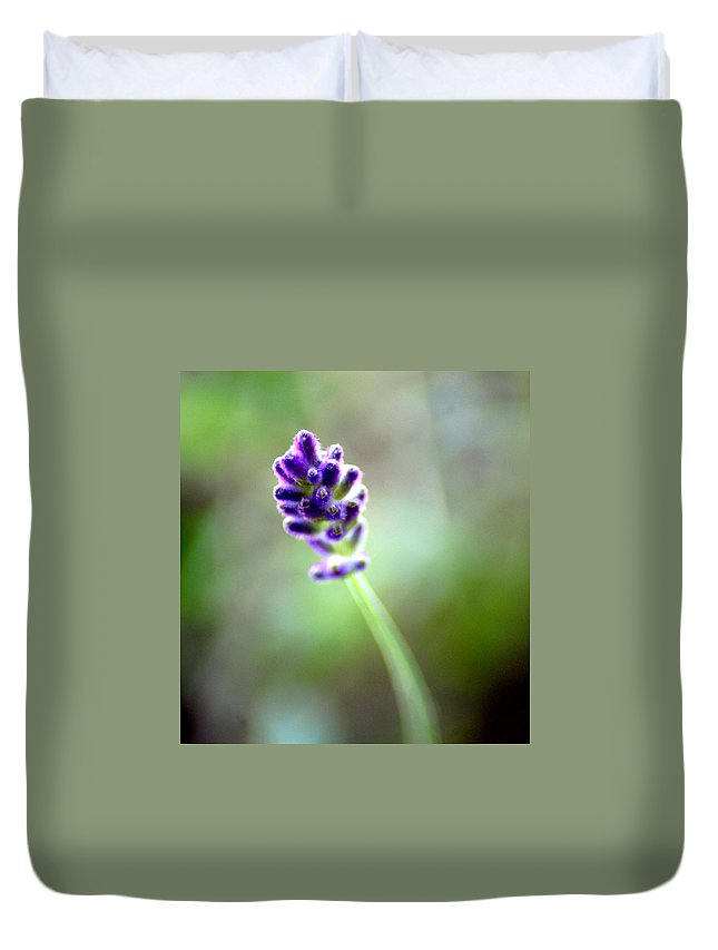 Lavender Duvet Cover featuring the photograph Lavender Moments by Donna Bentley