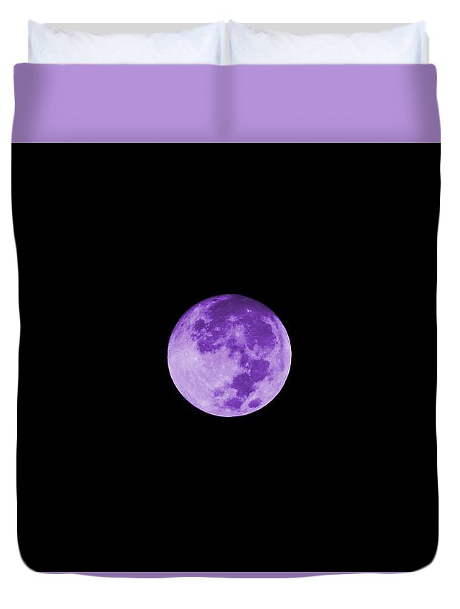 Lavender Moon Photograph on Duvet