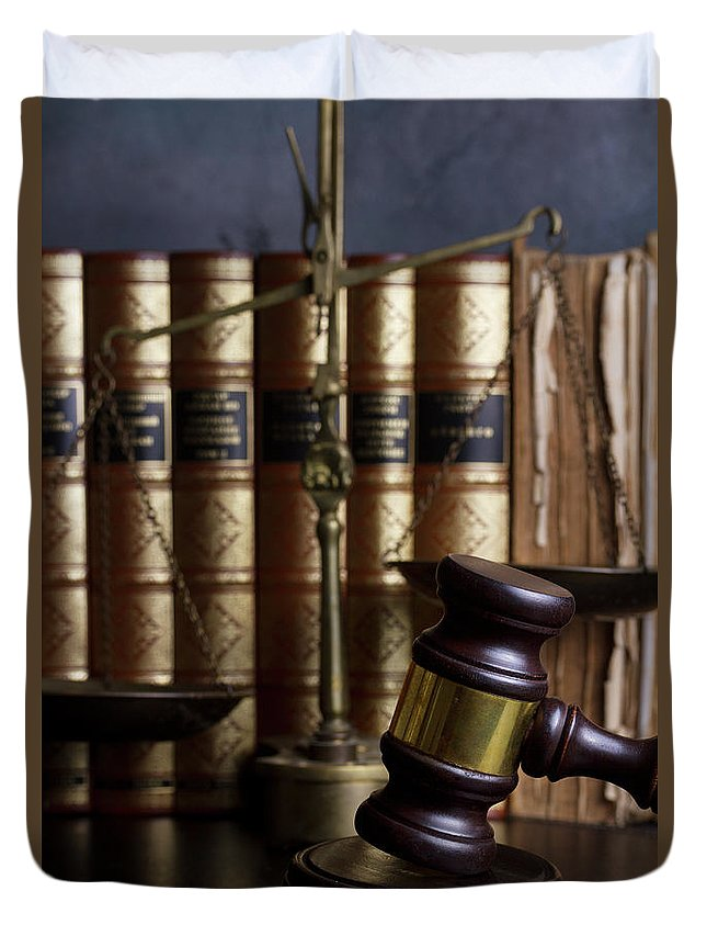Law Duvet Cover featuring the photograph Law And Order by Anastasy Yarmolovich