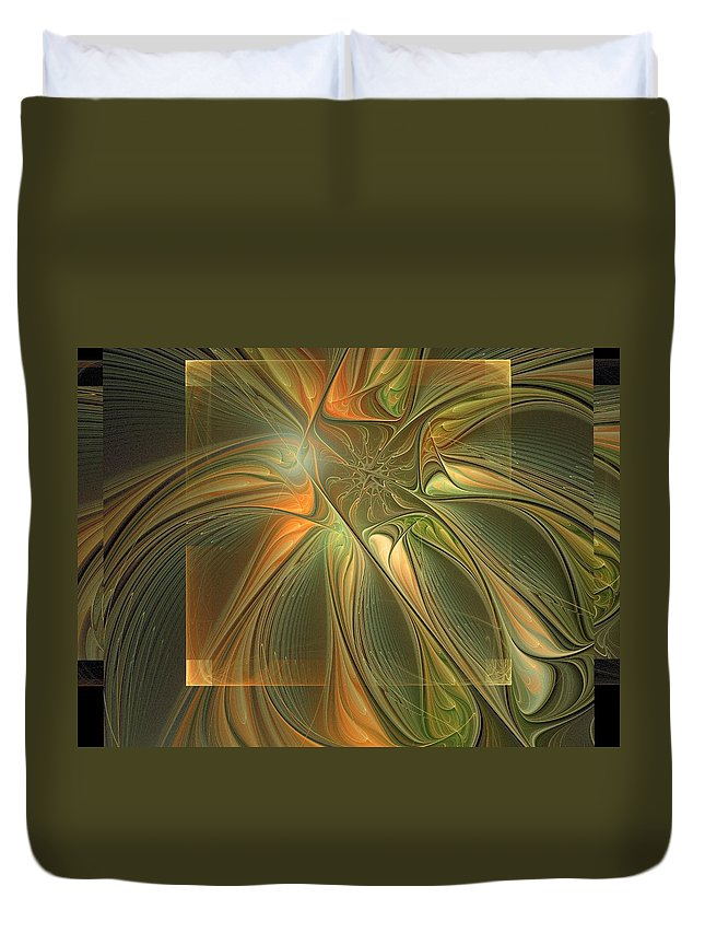 Digital Art Duvet Cover featuring the digital art Layers by Amanda Moore