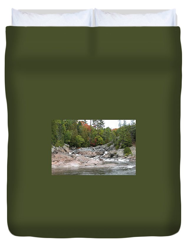 River Duvet Cover featuring the photograph Lazy River by Kelly Mezzapelle