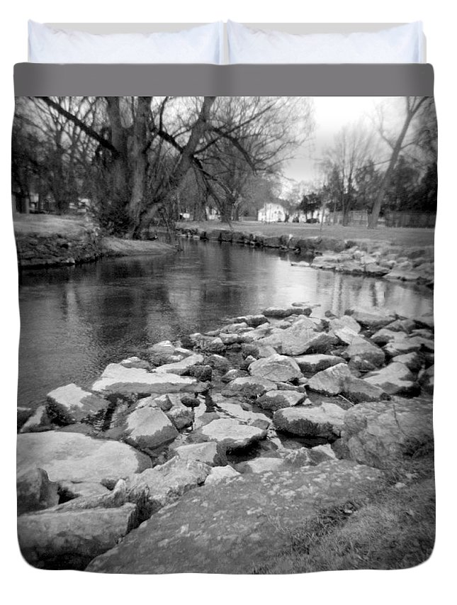 Photograph Duvet Cover featuring the photograph Le Tort Spring Run by Jean Macaluso