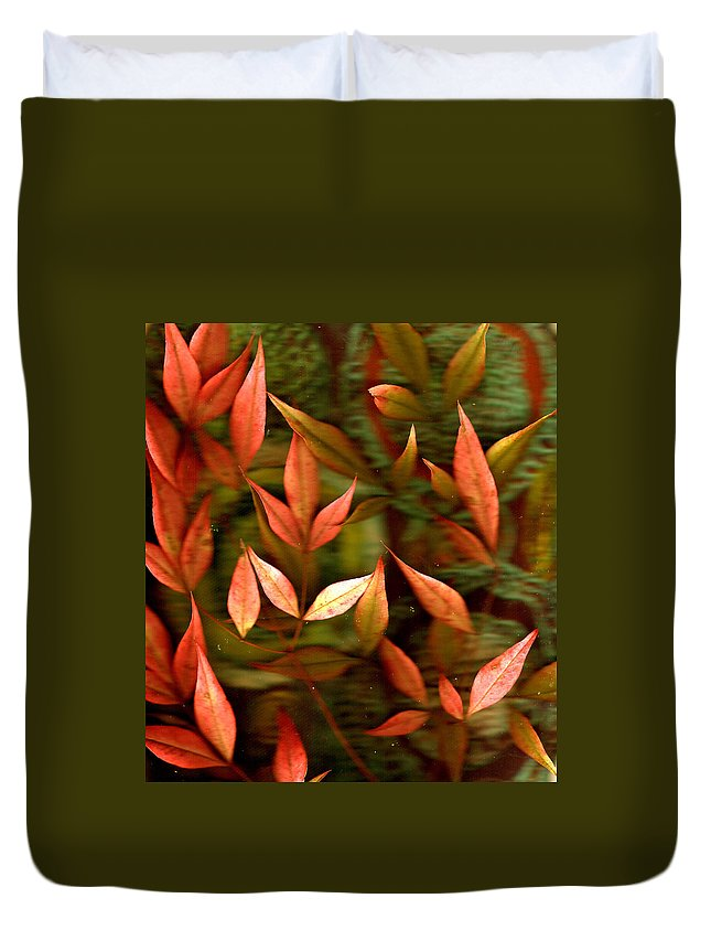 Leaves Duvet Cover featuring the photograph Leaf Collage Photo by Wayne Potrafka