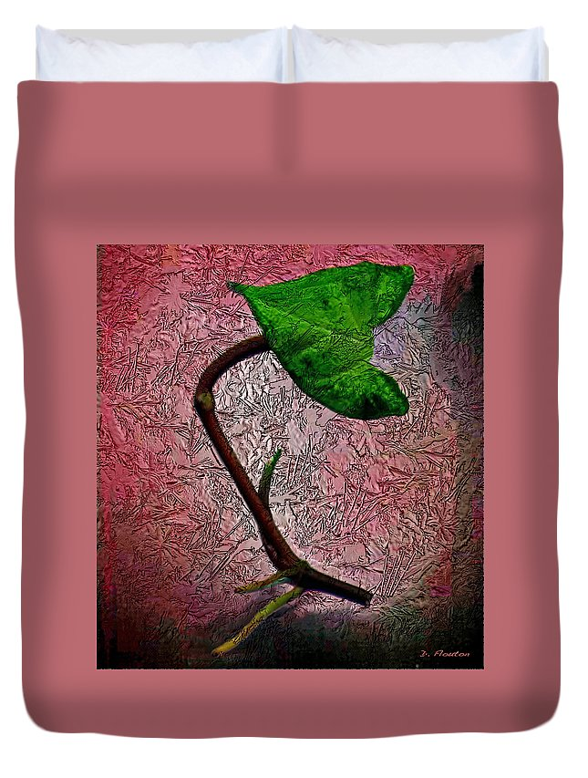 Ebsq Duvet Cover featuring the photograph Leaf by Dee Flouton