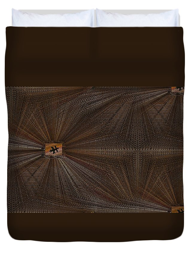 Leaf Duvet Cover featuring the digital art Leaf It Be by Tim Allen