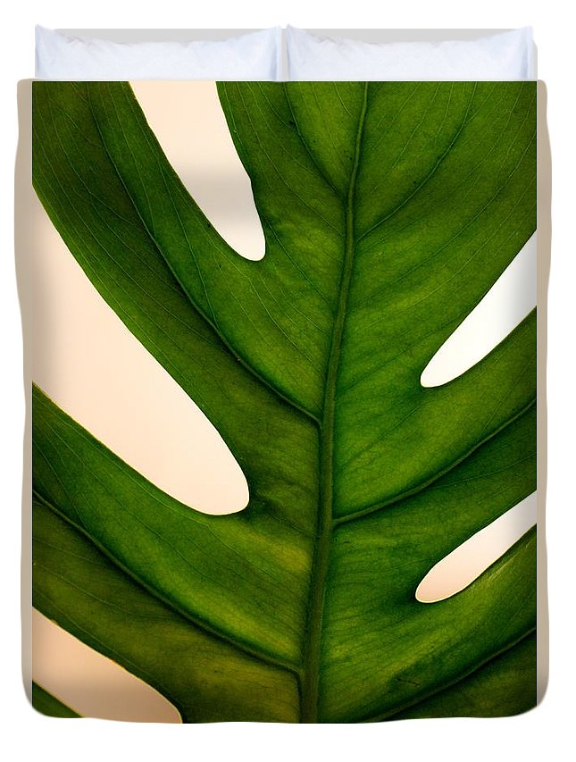 Leaf Duvet Cover featuring the photograph Leaf by Mesa Teresita