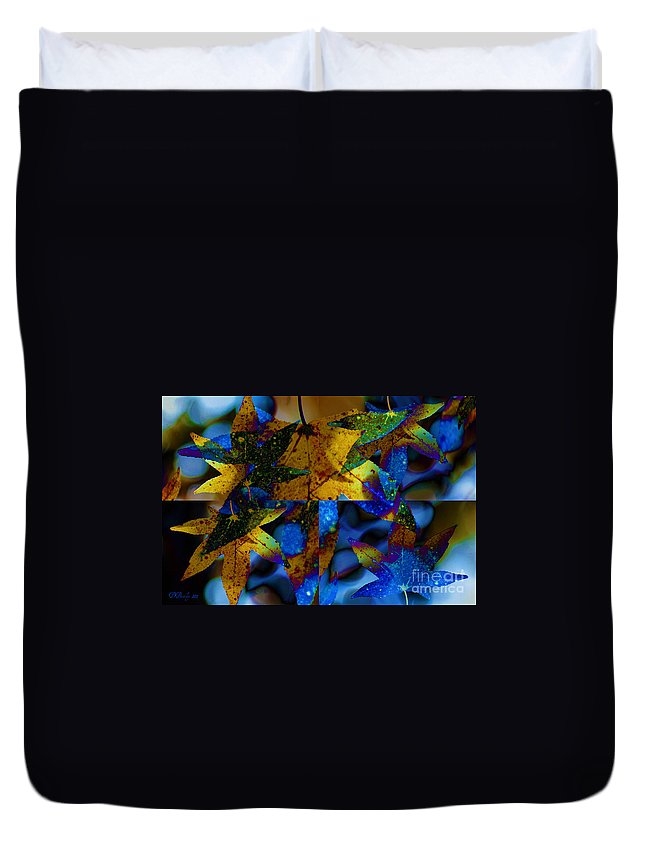 Leaf Duvet Cover featuring the photograph Leaf Peeping by Donna Bentley