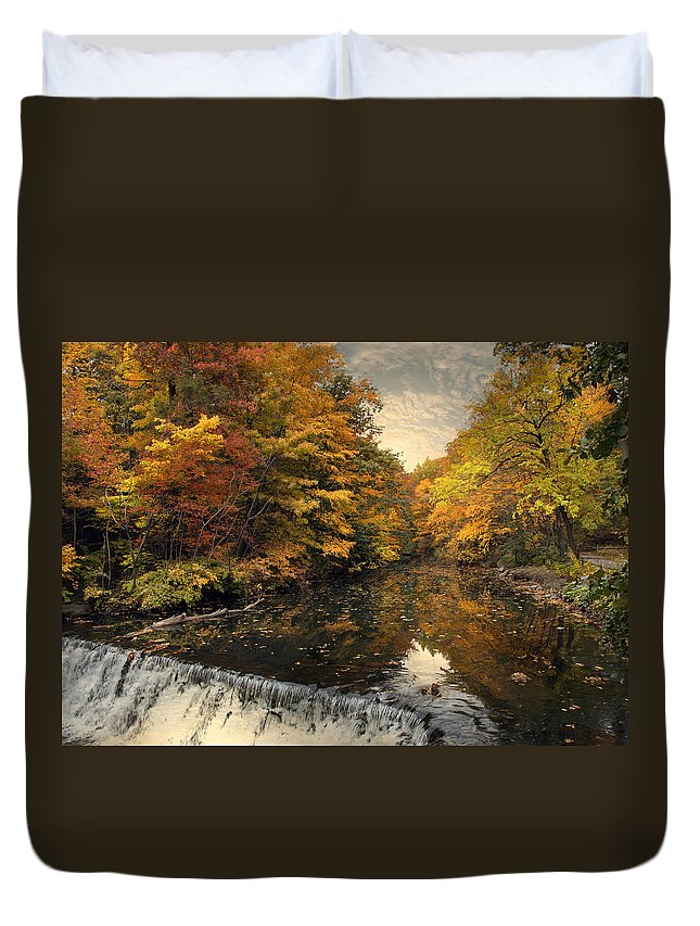 Nature Duvet Cover featuring the photograph Leaf Peeping by Jessica Jenney