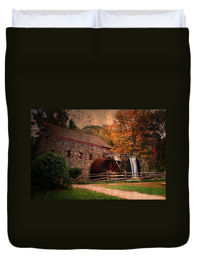 Mill Duvet Cover featuring the photograph Leave A Light On For Me by Renee Hong