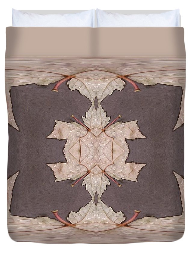 Leaves Duvet Cover featuring the photograph Leaves And Rain 3 by Tim Allen