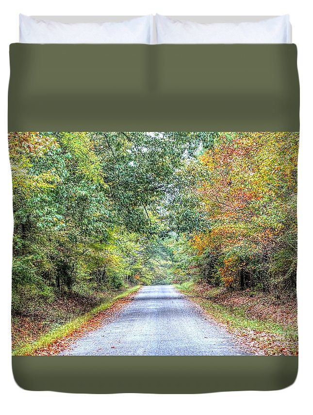 Memphis Duvet Cover featuring the photograph Leaves Changing In The Fall Near Collierville,tn by Billy Morris