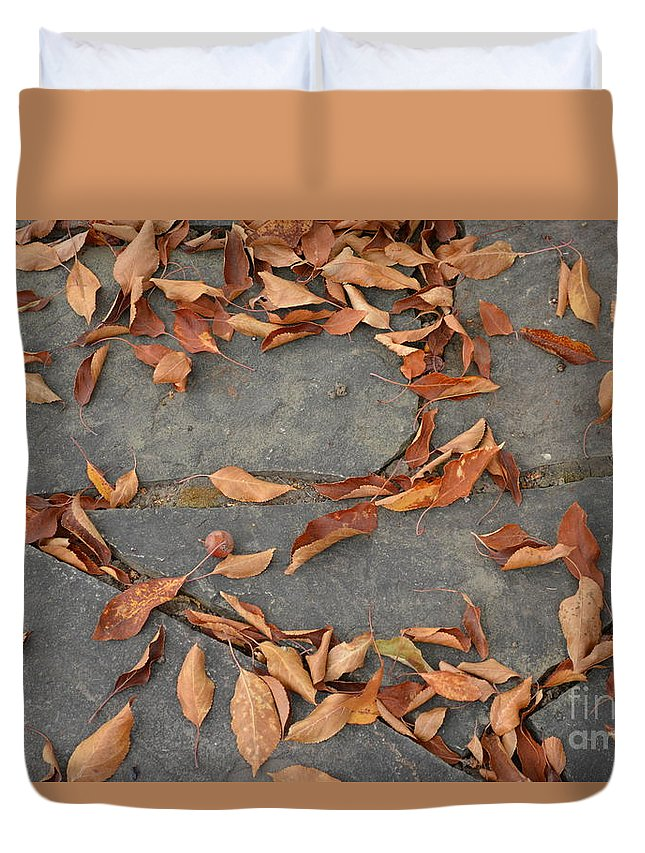 Leaves Duvet Cover featuring the photograph Leaves by Gale Cochran-Smith