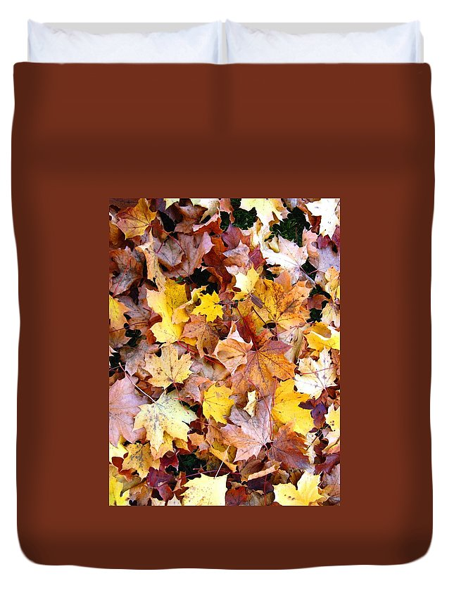 Leaves Duvet Cover featuring the photograph Leaves Of Fall by Rhonda Barrett