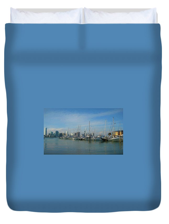 Water Duvet Cover featuring the photograph Leaving The Key by JAMART Photography