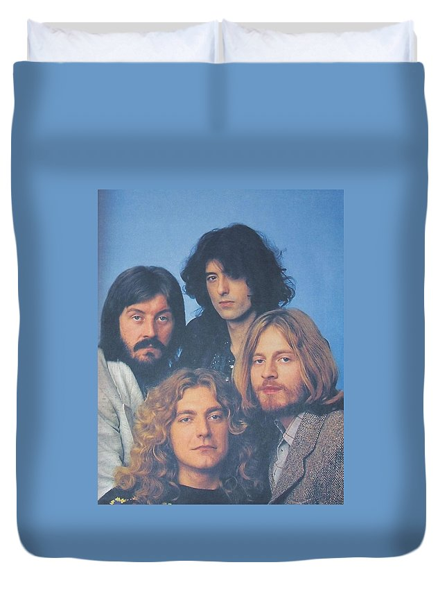 Led Zeppelin Duvet Cover featuring the photograph Led Zeppelin by Donna Wilson