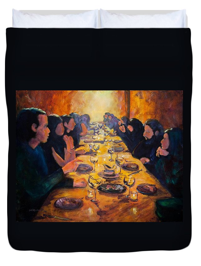 Food Duvet Cover featuring the painting Leftovers by Jason Reinhardt