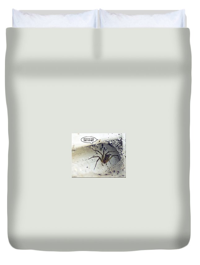 2d Duvet Cover featuring the photograph Leg Man by Brian Wallace