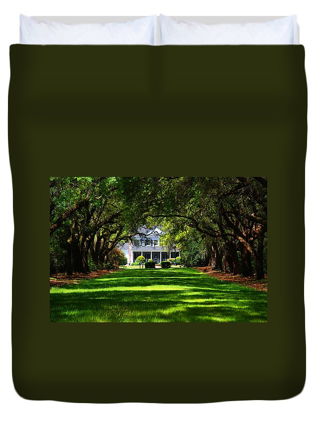 Photography Duvet Cover featuring the photograph Legare Waring House Charleston Sc by Susanne Van Hulst