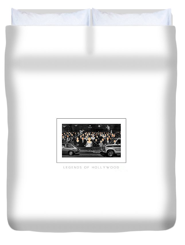 Hollywood Duvet Cover featuring the photograph Legends Of Hollywood Poster by Mike Nellums