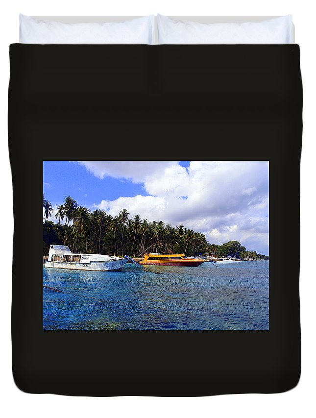 Duvet Cover featuring the photograph Lembongan by Todd Hummel