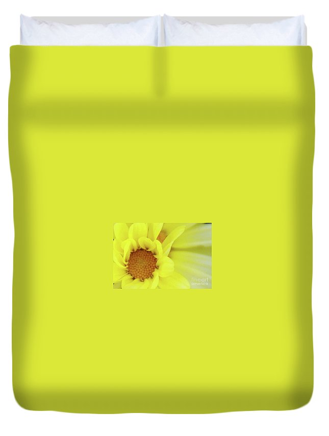 Flower Duvet Cover featuring the photograph Lemon Chiffon by Linda Shafer