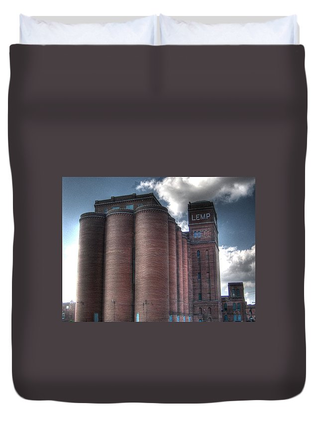 St. Louis Duvet Cover featuring the photograph Lemp Brewery by Jane Linders