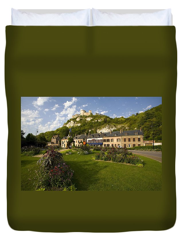 Les Andelys Duvet Cover featuring the photograph Les Andelys France by Sheila Smart Fine Art Photography