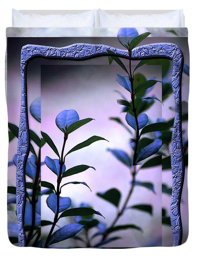 Purple Duvet Cover featuring the digital art Let Free The Pain by Vicki Ferrari
