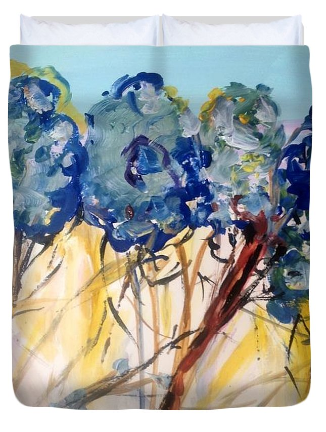 Nature Duvet Cover featuring the painting Let Me Wander In Nature by Judith Desrosiers