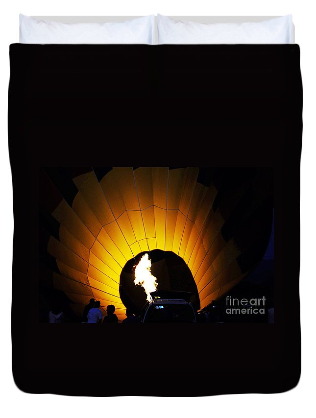Clay Duvet Cover featuring the photograph Let The Glowing Begin by Clayton Bruster