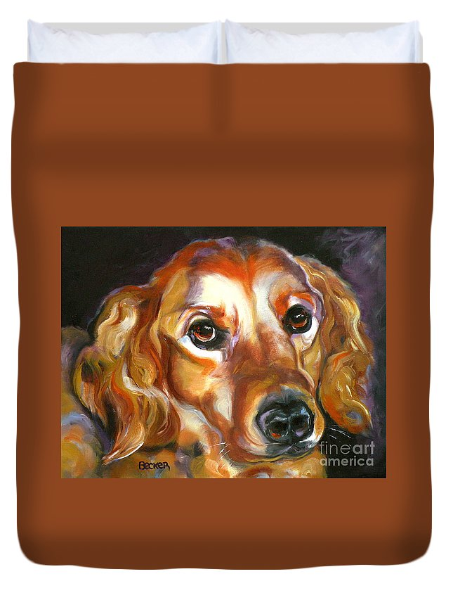 Oil Duvet Cover featuring the painting Let The Sunshine In by Susan A Becker