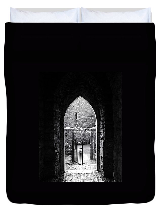 Irish Duvet Cover featuring the photograph Let There Be Light Cong Church And Abbey Cong Ireland by Teresa Mucha
