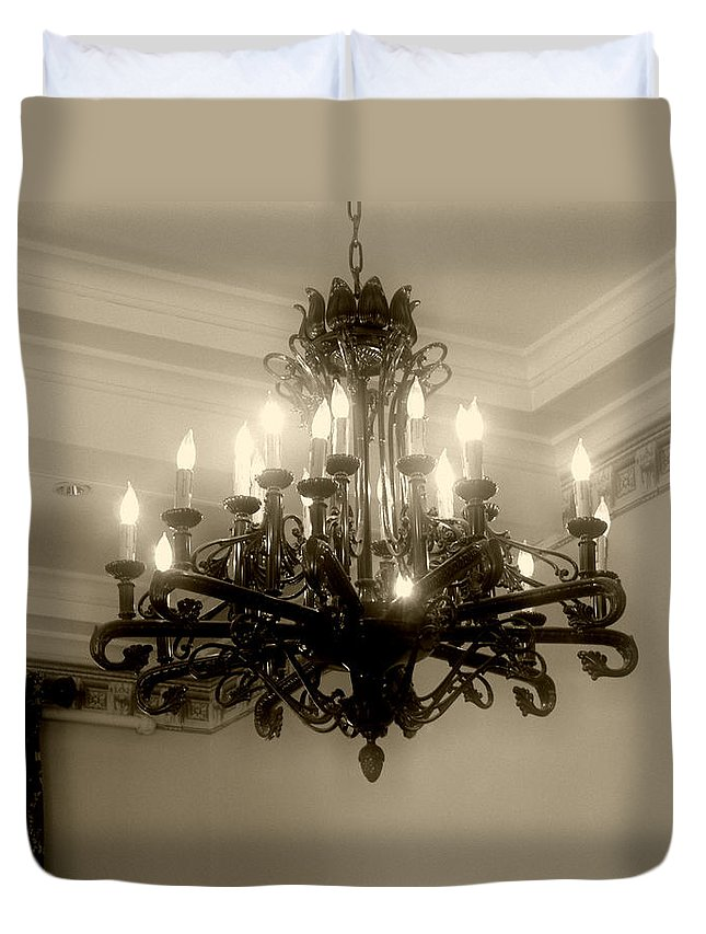Antique Duvet Cover featuring the photograph Let There Be Light by RC DeWinter
