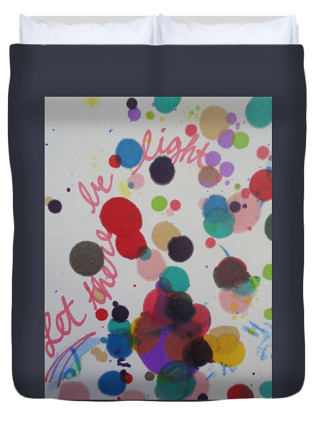 Light Duvet Cover featuring the painting Let There Be Light by Vonda Drees