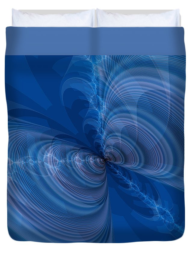 Art Duvet Cover featuring the digital art Let's Be Friends by Jeff Iverson