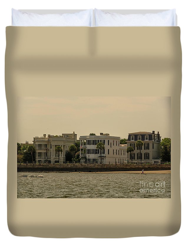 Battery Duvet Cover featuring the photograph Lets Go Paddle Boarding by Dale Powell