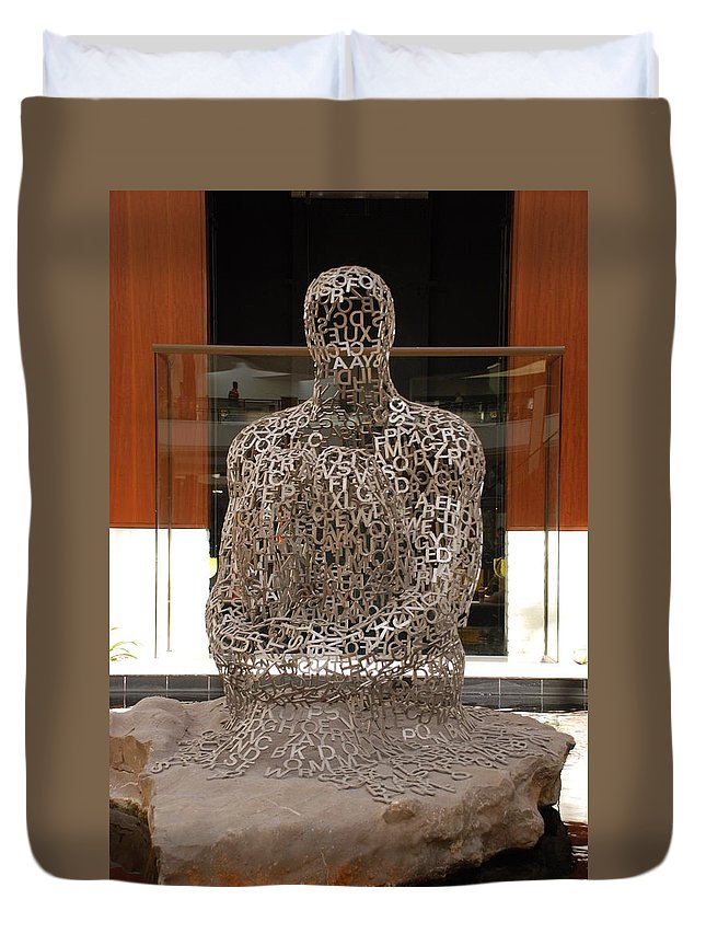 Scultures Duvet Cover featuring the photograph Letter Man In Color by Rob Hans