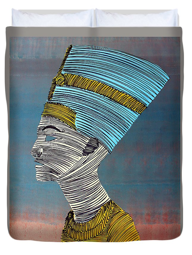 Egypt Duvet Cover featuring the painting Lib-276 by Artist Singh