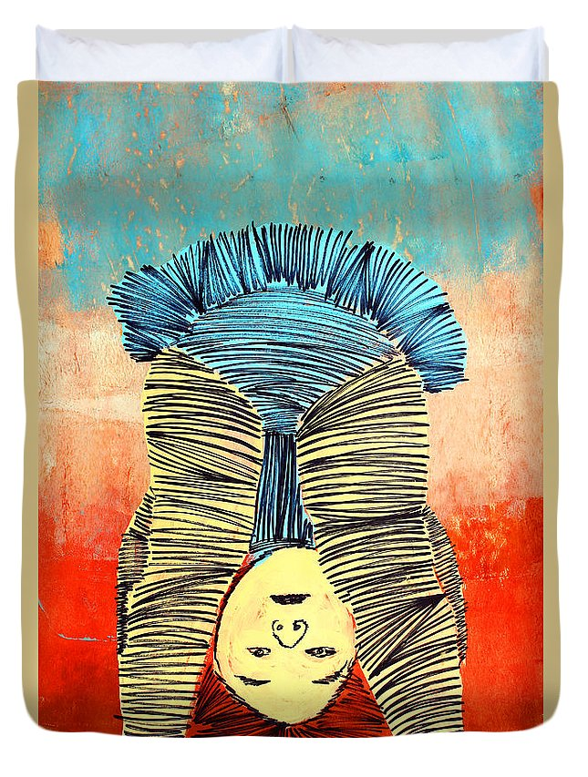 Baby Duvet Cover featuring the painting Lib-497 by Artist Singh