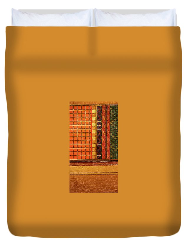 Duvet Cover featuring the painting Libaaz by Arpita B Ruparel